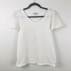 White Cap Sleeve Tee